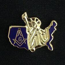 Masonic / USA Lapel Pin (USM-1)