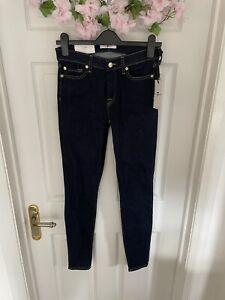 BNWT 7 for all mankind Indigo Skinny Jeans W 28 L 32