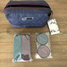 Ted Baker Blue Geometric Print Shoe Shine Kit / Doubles as Toiletry Bag