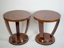 FRENCH ART DECO pair of SIDE TABLE in the manner of LELEU DOMINIQUE macassar