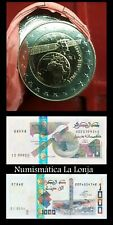 B-D-M Argelia Algeria New 2019 coin & banknotes 100 500 1000 Dinars Satellite SC