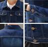 Men's Jean Jacket Spring Washed Denim Vest Coat Top  Blue Overcoat Coats Blouse