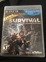 Cabela's Survival: Shadows of Katmai (Sony PlayStation 3, 2011) W Manual
