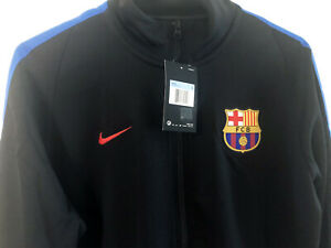 Nike FC Barcelona 17/18 Men's Training Soccer Football Jacket Sz M 868925-010