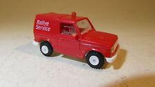 """++ Rietze Modellauto  H01:87 Mitsubishi Pajero Rallye rot """"Rallye Service"""""""