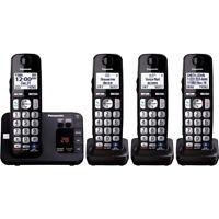 Panasonic KX-TGE234B 4 Handset Cordless Landline Phone Answering Machine DECT6.0