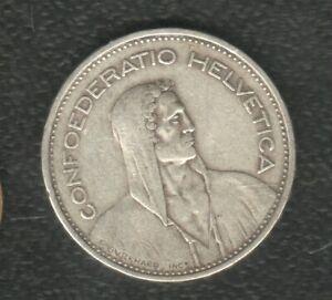 SWITAERLAND 5 FRANCS 1932 SILVER
