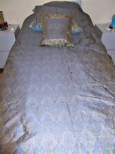 Indian Vintage Silk Handmade King Size lined bedspread 4 pieces