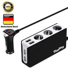4 USB Auto Ladegerät 3 Fach KFZ Zigarettenanzünder Adapter Verteiler 12V/24V DE