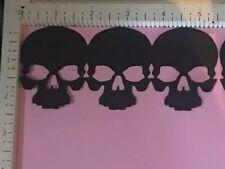 Cricut Halloween Die Cut Scary & Chic Skull Boarder Die Cuts Black 5.5 W X 2.25H