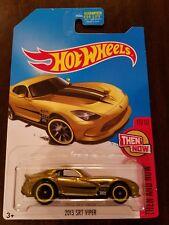 Hot Wheels 2017 Super Treasure Hunt 2013 SRT Viper Gold HW Then & Now (Lot of 1)