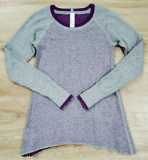 Ivivva Girls Sweater Size 12 Practice Ready Purple Gray