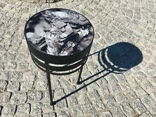 Modern Unique Contemporary Metal Glass Handmade Designer Coffee Table HEMATITE