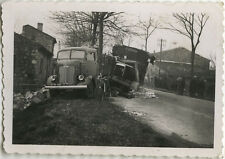 PHOTO ANCIENNE - VINTAGE SNAPSHOT - CAMION ACCIDENT TRANSPORT - TRUCK CRASH 3