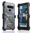 For LG V40 ThinQ Dual Layer Holster Case w/ Built-in Screen Protector& Kickstand