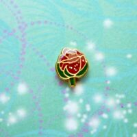 New Sterling Rose Jewel For Locket Keychain Etc