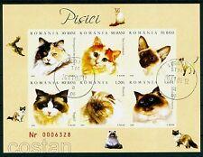 2006 Cats,Katze,Siamese,Persian,Turkish,Birmanese,Norvegian,Romania,Bl.367,VFU