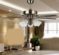 D59 Dining Living Room Bedroom 48 Inch 5 Blade Iron Ceiling Fan Light Lamp Z