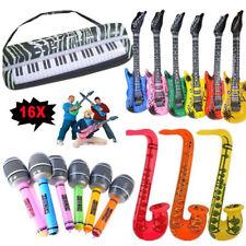 16tlg Aufblasbare Luftgitarre Mikrofone Sax Tastatur Musikinstrument Set Aus DE