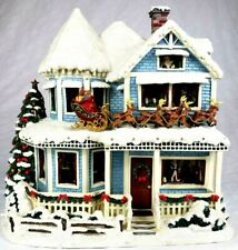 "Thomas Kinkade ""Twas The Night Before Christmas"" House Tested Working Coa 2004"