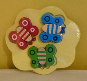 NEW baby toy,wooden,puzzle,jigsaw,game,toddler,childrens,activity,butterfly,wood