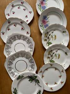 Vintage China Side  / Tea Plates x 10 Job Lot / Wedding / Party / Tea Room