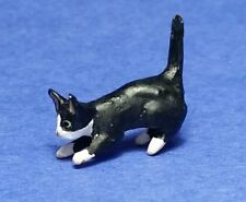 Miniature Dollhouse  Doll House Black & White Kitten 1:12 Scale New