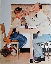 "Norman Rockwell Vintage Poster Print 17"" x 22"" optometrist 1956 O"