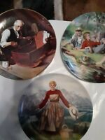 Edwin M. Knowles collector plate set of 3