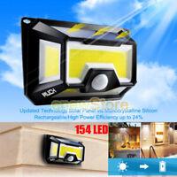 154 Solar LED Light Outdoor Garden Waterproof Wireless Security Motion 3 Modes