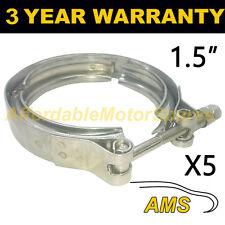 """5x V-BAND Esterno Morsetti in acciaio inox tubo di scarico Turbo 1.5"""" 38mm"""