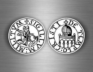 2x autocollant sticker ordre malte templier knights croisades templar crusader A