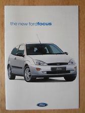 FORD FOCUS GAMA 1998 catálogo comercial mercado GB - CL Zetec LX Ghia