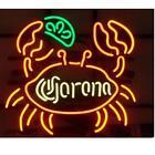 """New Corona Crab Lime Seafood Neon Sign Beer Bar Pub Gift Light 17""""x14"""""""