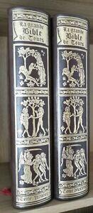 LA GRANDE BIBLE DE TOURS-GUSTAVE DORE 2TOMES  - JEAN DE BONNOT 1975-76