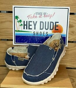 Dude Shoes - Mens - Farty Braided - Organic Cotton - Night Blue