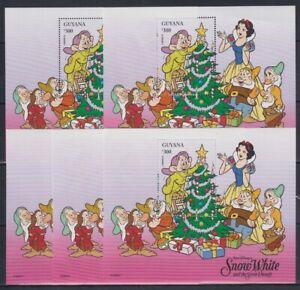 R455. 5x Guyana - MNH - Animation - Disney - Snow White - Bl. - 1