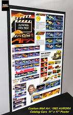 "Custom AFX Wall Art - AURORA ""The AFX 1982 Catalog Cars""  11W x 17T Hi QA POSTER"