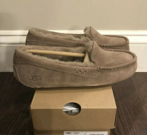 New UGG Women's Size 10 Ansley Moccasin Slippers CRBO Caribou Taupe