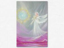"""Engel Energiebild """"Engelmagie"""" Schutzengel Bild in Grau Lila. Yoga Wand Decor"""