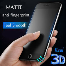 For Apple iPhone XS Max X 8 7+ Frosted Matte Tempered Glass Screen Protector AU