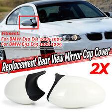 M3 Style Glossy White Mirror Caps Cover For BMW E90 E91 E92 E93 Pre-LCI 07-09
