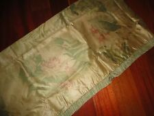 CHRIS MADDEN TROPICAL GOLD RED FLORAL LEAVES FRINGED VALANCE 88 X 16