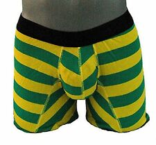 MENS BOYS FUN DESIGNER UNDERWEAR GREEN BOXER LONG NO FLY G3 SMALL A1
