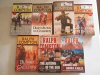 RALPH COMPTON LOT 7 WESTERN PAPERBACKS Tucker's Reckoning Blood on the Gallows