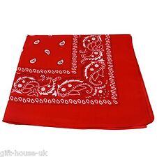 cachemire rouge bandana Bandanna MOTARD CHAPEAU bandes écharpe Enveloppe de cou