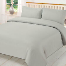 Plain Dyed Duvet Cover Quilt Bedding Set With Pillowcase Single Double King Size