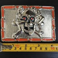 SKULL Buckle SILVER MEN WOMEN Skull Biker BUCKLE Silver BRONZE MEN WOMEN