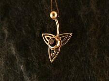 Piercing 24 Karat Gold Anhänger 925 Silber Tribalblume Bauchnabel Stein Lila