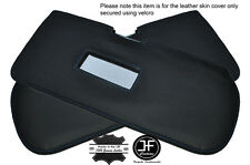 BLUE STITCHING 2X SUN VISORS LEATHER COVERS FITS FIAT 126 STYLE 2